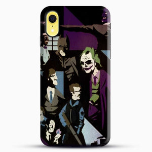 Horror Comic Collection Darck Knight iPhone XR Case, Black Snap 3D Case | JoeYellow.com