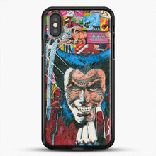 Load image into Gallery viewer, Horror Comic Collection X Men iPhone X Case, Black Rubber Case | JoeYellow.com