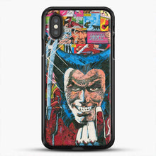 Load image into Gallery viewer, Horror Comic Collection X Men iPhone XS Case, Black Rubber Case | JoeYellow.com