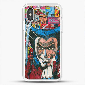 Horror Comic Collection X Men iPhone XS Case, White Rubber Case | JoeYellow.com