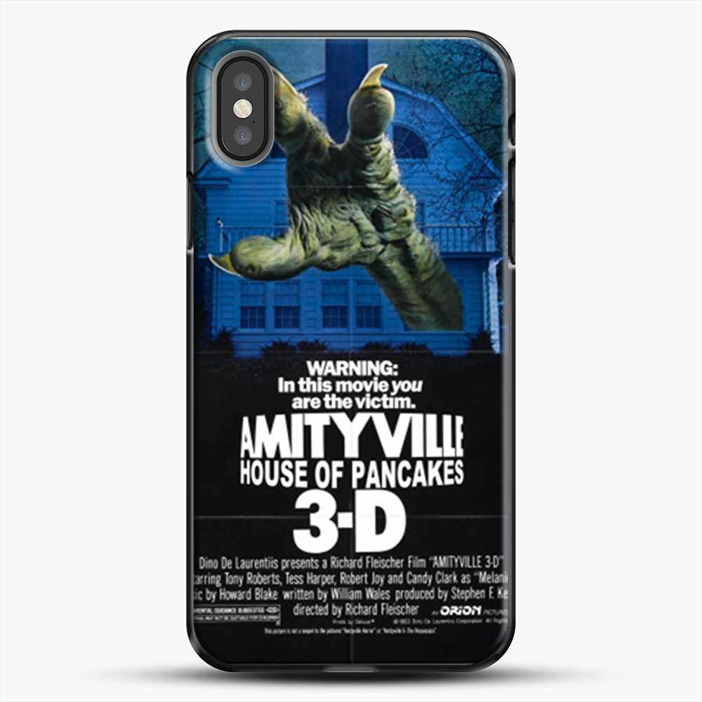 Horror Film Hounted House iPhone X Case, Black Plastic Case | JoeYellow.com