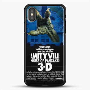 Horror Film Hounted House iPhone X Case, Black Rubber Case | JoeYellow.com