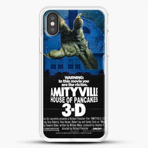 Horror Film Hounted House iPhone X Case, White Rubber Case | JoeYellow.com
