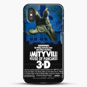 Horror Film Hounted House iPhone XS Case, Black Plastic Case | JoeYellow.com