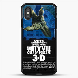 Horror Film Hounted House iPhone XS Case, Black Rubber Case | JoeYellow.com