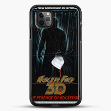 Load image into Gallery viewer, Horror Film The Revenge Hockey iPhone 11 Pro Max Case, Black Rubber Case | JoeYellow.com