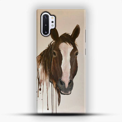 Horse Print Happy Dave Paint Samsung Galaxy Note 10 Plus Case, Snap 3D Case | JoeYellow.com