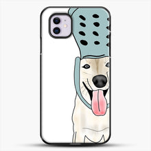 Load image into Gallery viewer, Husky And Crocs iPhone 11 Case, Black Plastic Case | JoeYellow.com