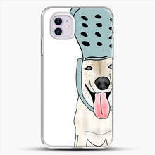 Load image into Gallery viewer, Husky And Crocs iPhone 11 Case, White Plastic Case | JoeYellow.com