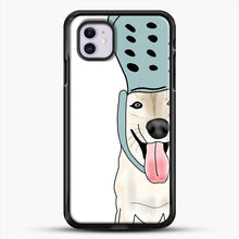 Load image into Gallery viewer, Husky And Crocs iPhone 11 Case, Black Rubber Case | JoeYellow.com