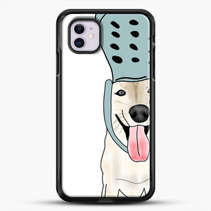 Husky And Crocs iPhone 11 Case, Black Rubber Case | JoeYellow.com