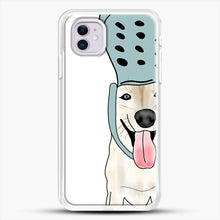 Load image into Gallery viewer, Husky And Crocs iPhone 11 Case, White Rubber Case | JoeYellow.com