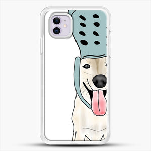 Husky And Crocs iPhone 11 Case, White Rubber Case | JoeYellow.com