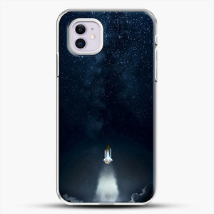 Into Space iPhone 11 Case, White Plastic Case | JoeYellow.com