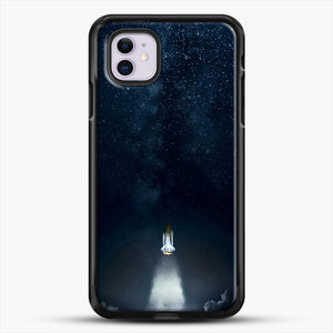 Into Space iPhone 11 Case, Black Rubber Case | JoeYellow.com