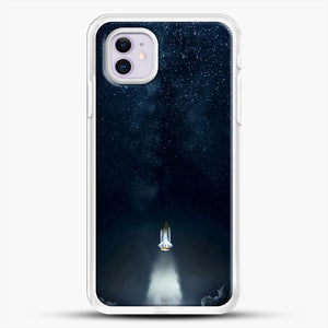 Into Space iPhone 11 Case, White Rubber Case | JoeYellow.com