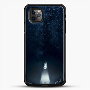Into Space iPhone 11 Pro Max Case, Black Rubber Case | JoeYellow.com