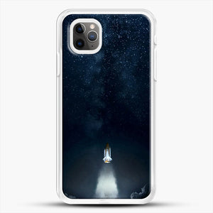 Into Space iPhone 11 Pro Max Case, White Rubber Case | JoeYellow.com