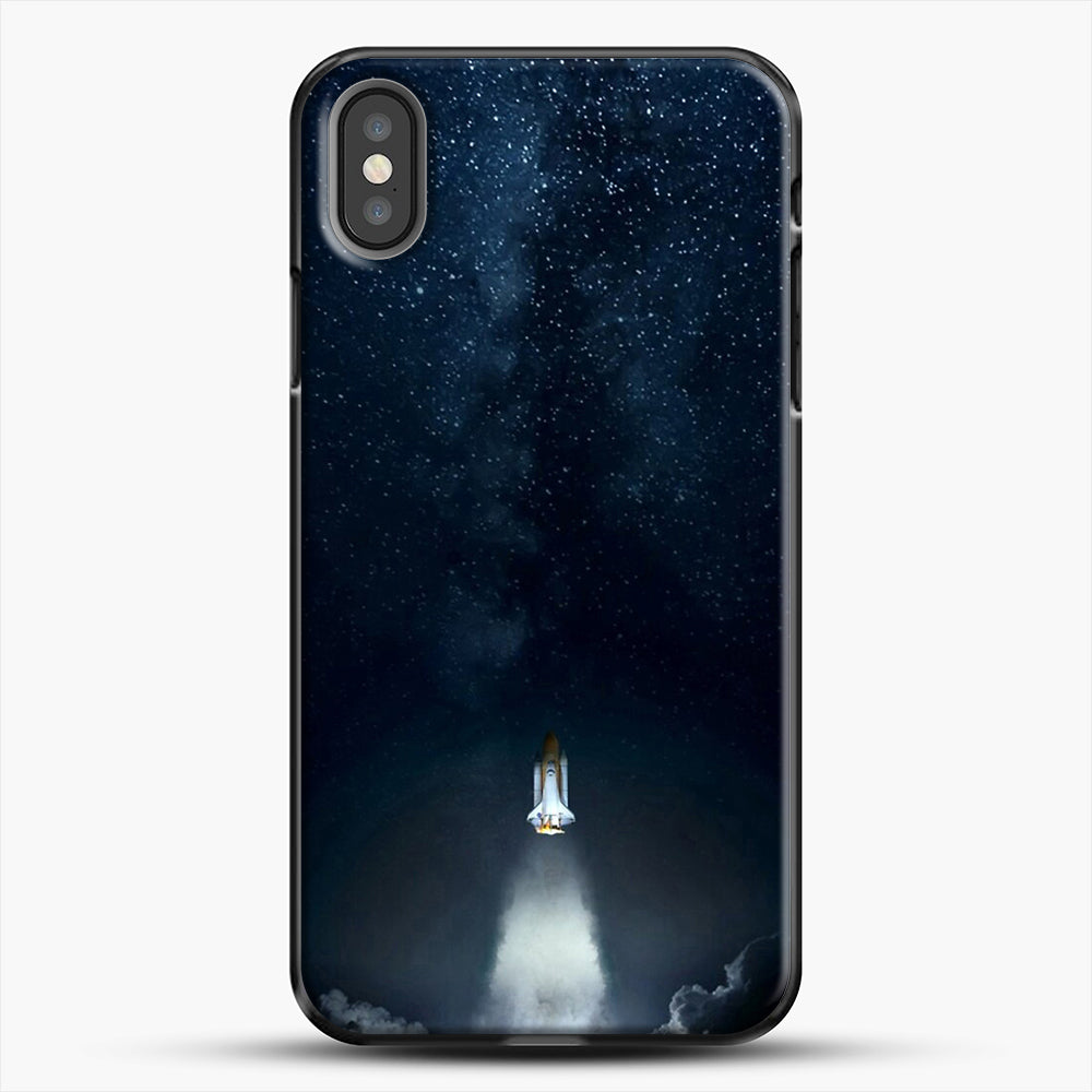 Into Space iPhone X Case, Black Plastic Case | JoeYellow.com