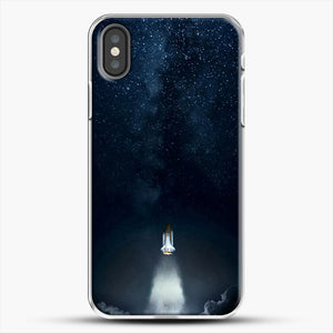 Into Space iPhone X Case, White Plastic Case | JoeYellow.com