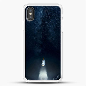 Into Space iPhone X Case, White Rubber Case | JoeYellow.com