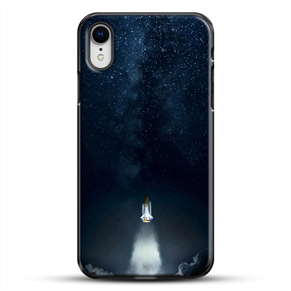 Into Space iPhone XR Case, Black Plastic Case | JoeYellow.com