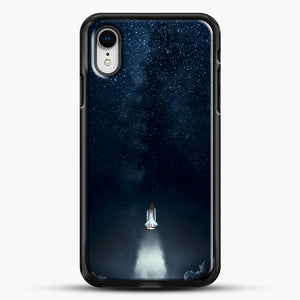 Into Space iPhone XR Case, Black Rubber Case | JoeYellow.com