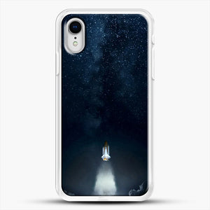 Into Space iPhone XR Case, White Rubber Case | JoeYellow.com