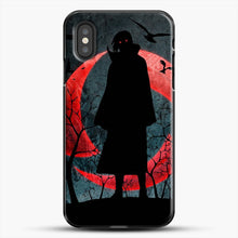 Load image into Gallery viewer, Itachi Silhouette Uchiha iPhone XS Case, Black Plastic Case | JoeYellow.com