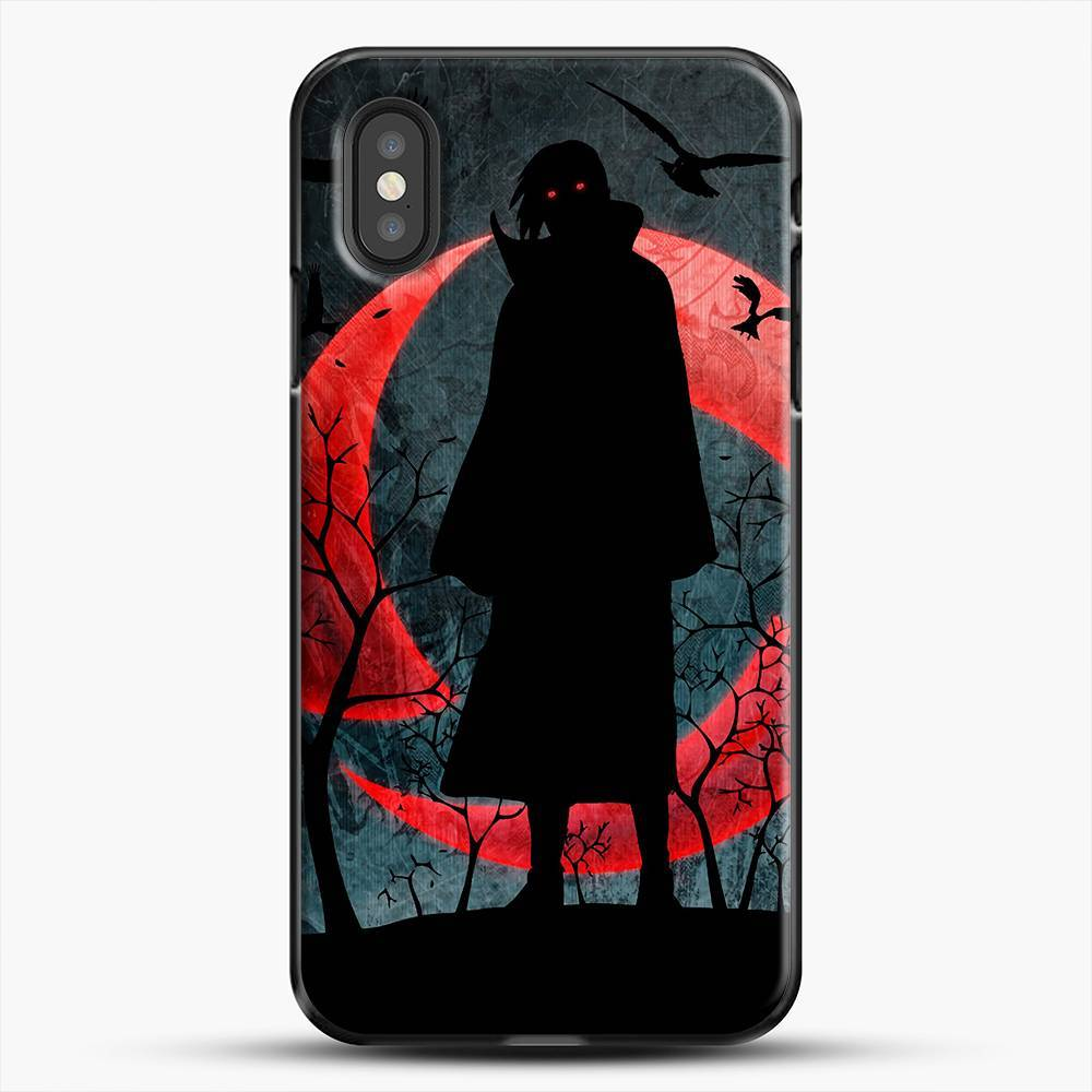 Itachi Silhouette Uchiha iPhone XS Case, Black Plastic Case | JoeYellow.com