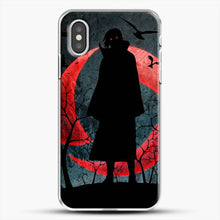 Load image into Gallery viewer, Itachi Silhouette Uchiha iPhone XS Case, White Plastic Case | JoeYellow.com