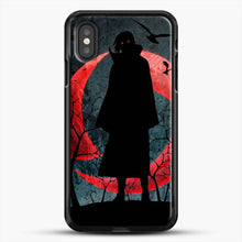 Load image into Gallery viewer, Itachi Silhouette Uchiha iPhone XS Case, Black Rubber Case | JoeYellow.com