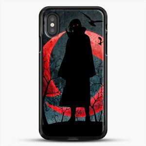 Itachi Silhouette Uchiha iPhone XS Case, Black Rubber Case | JoeYellow.com