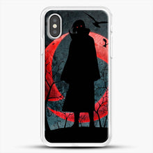 Load image into Gallery viewer, Itachi Silhouette Uchiha iPhone XS Case, White Rubber Case | JoeYellow.com