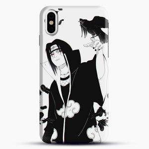 Itachi Silhouette With Black Bird iPhone X Case, Snap 3D Case | JoeYellow.com