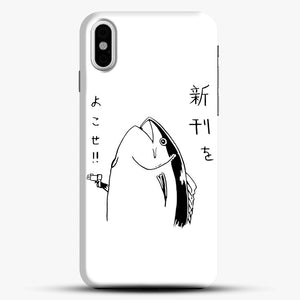 Japanese Fish Hold Up iPhone X Case, Black Snap 3D Case | JoeYellow.com