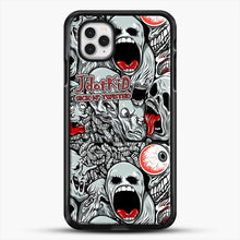 Load image into Gallery viewer, Jdotkid Sick N Twisted Design iPhone 11 Pro Case, Black Rubber Case | JoeYellow.com