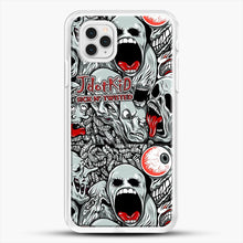 Load image into Gallery viewer, Jdotkid Sick N Twisted Design iPhone 11 Pro Case, White Rubber Case | JoeYellow.com