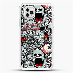 Jdotkid Sick N Twisted Design iPhone 11 Pro Case, White Rubber Case | JoeYellow.com