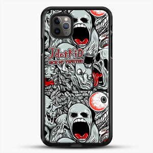 Jdotkid Sick N Twisted Design iPhone 11 Pro Max Case, Black Rubber Case | JoeYellow.com