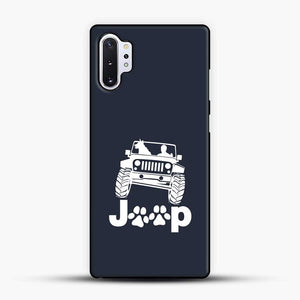 Jeep Dog Canine Samsung Galaxy Note 10 Plus Case, Black Plastic Case | JoeYellow.com