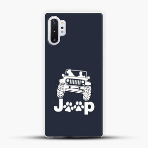Jeep Dog Canine Samsung Galaxy Note 10 Plus Case, White Plastic Case | JoeYellow.com