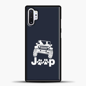 Jeep Dog Canine Samsung Galaxy Note 10 Plus Case, Black Rubber Case | JoeYellow.com