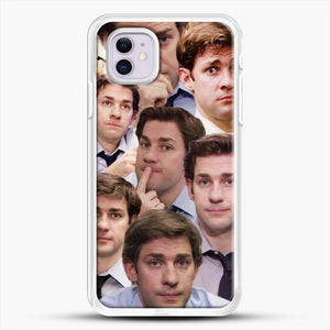 Jim Makes The Face iPhone 11 Case, White Rubber Case | JoeYellow.com