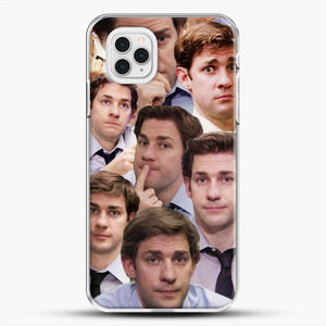 Jim Makes The Face iPhone 11 Pro Case, White Plastic Case | JoeYellow.com