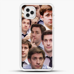 Jim Makes The Face iPhone 11 Pro Case, White Rubber Case | JoeYellow.com