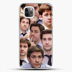 Jim Makes The Face iPhone 11 Pro Max Case, White Plastic Case | JoeYellow.com