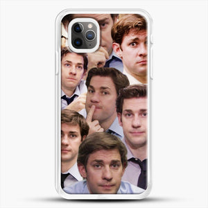 Jim Makes The Face iPhone 11 Pro Max Case, White Rubber Case | JoeYellow.com