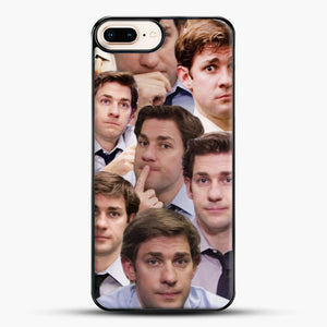 Jim Makes The Face iPhone 8 Plus Case, Black Plastic Case | JoeYellow.com