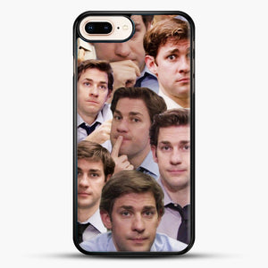 Jim Makes The Face iPhone 8 Plus Case, Black Rubber Case | JoeYellow.com